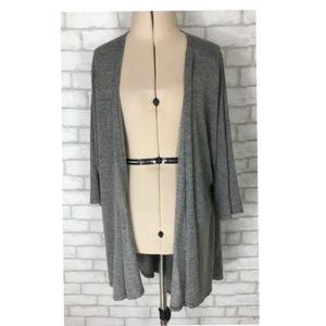 Lularoe Gray Kimono Open Long Cardigan Size Small